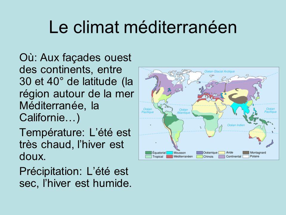 Le climat méditerranéen