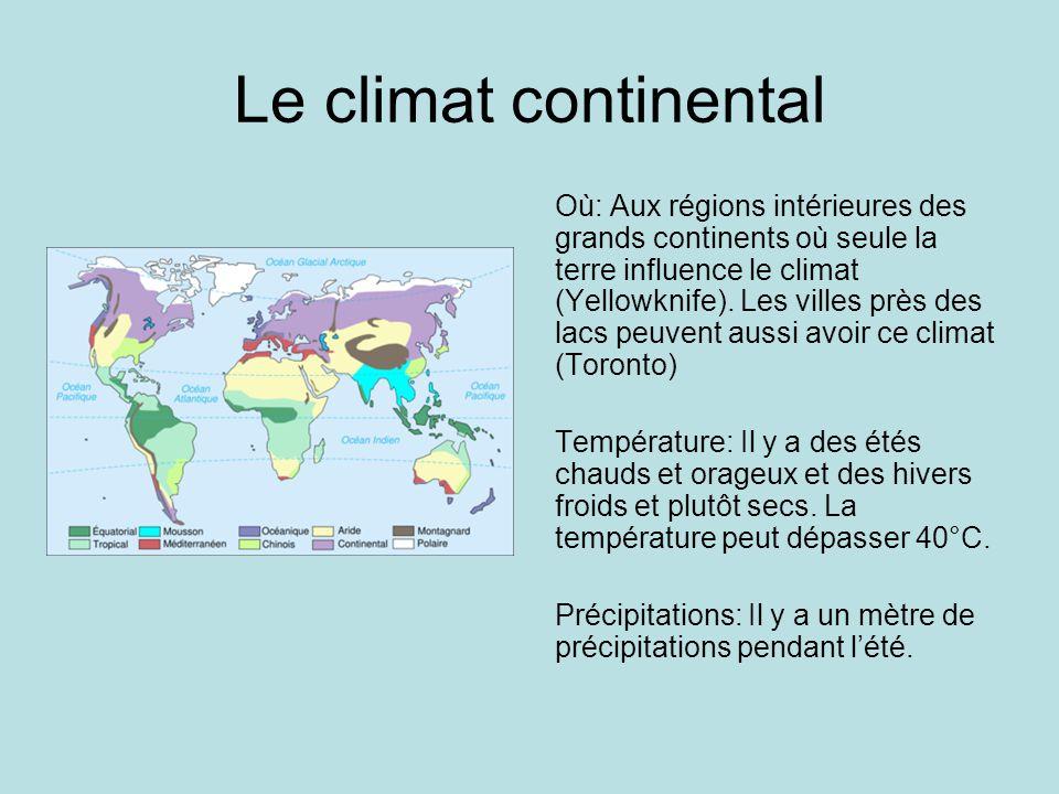 Le climat continental