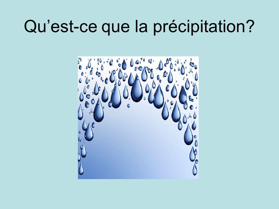 Qu'est-ce que la précipitation