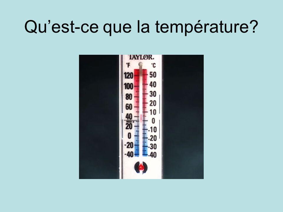 Qu'est-ce que la température