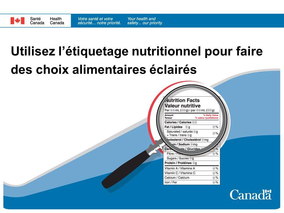 Utilisez l'étiquetage nutritionnel pour faire des choix alimentaires éclairés