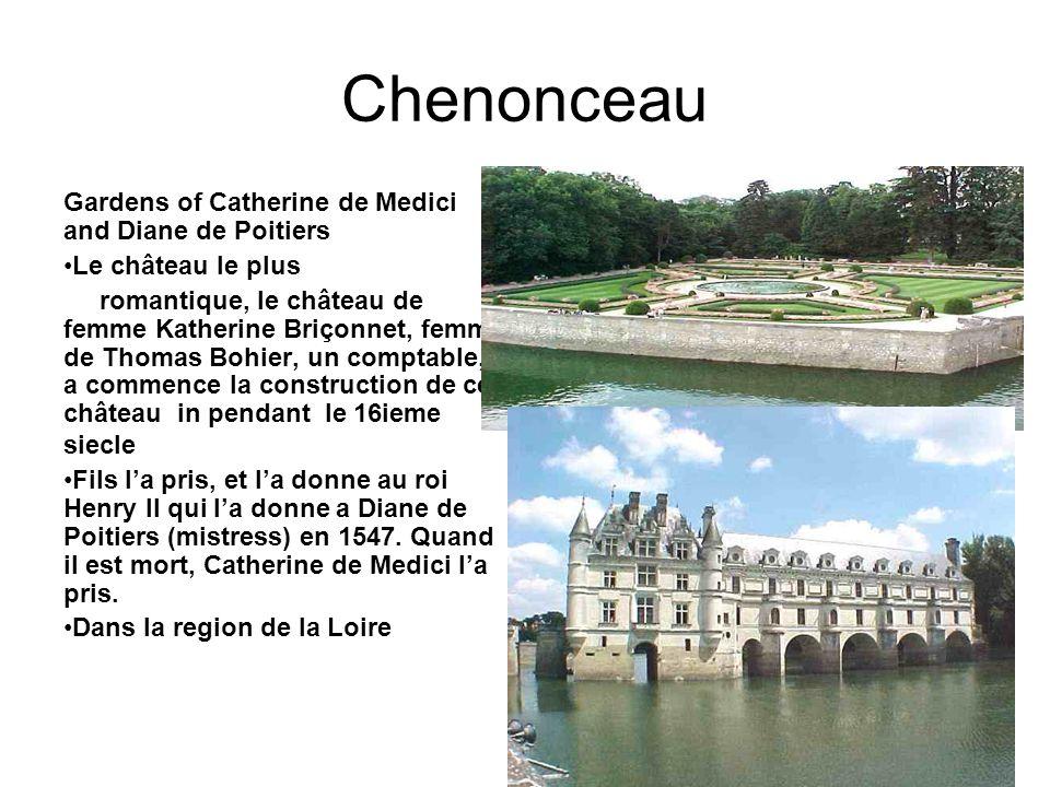 Chenonceau Gardens of Catherine de Medici and Diane de Poitiers