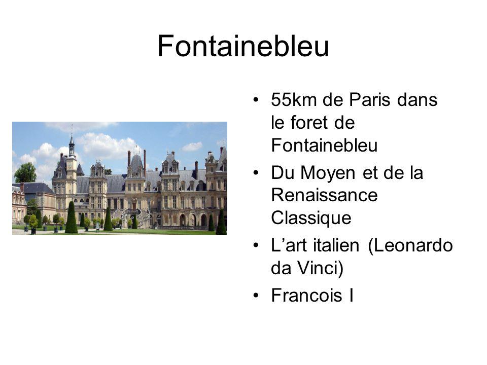 Fontainebleu 55km de Paris dans le foret de Fontainebleu