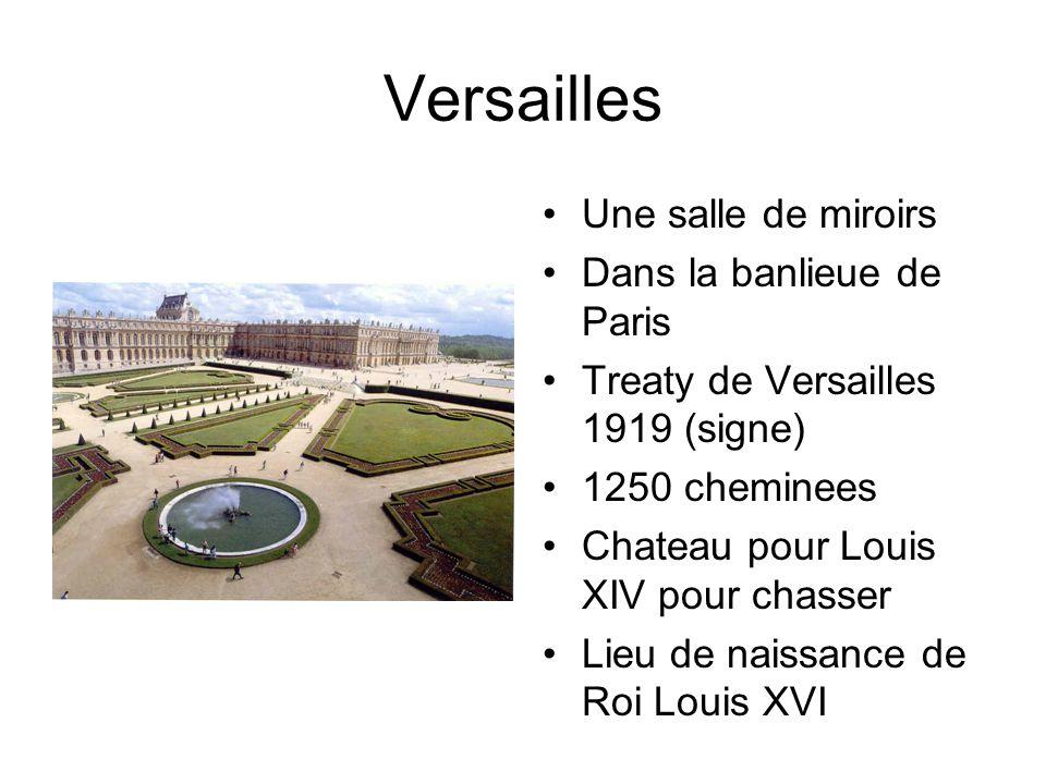 Versailles Une salle de miroirs Dans la banlieue de Paris