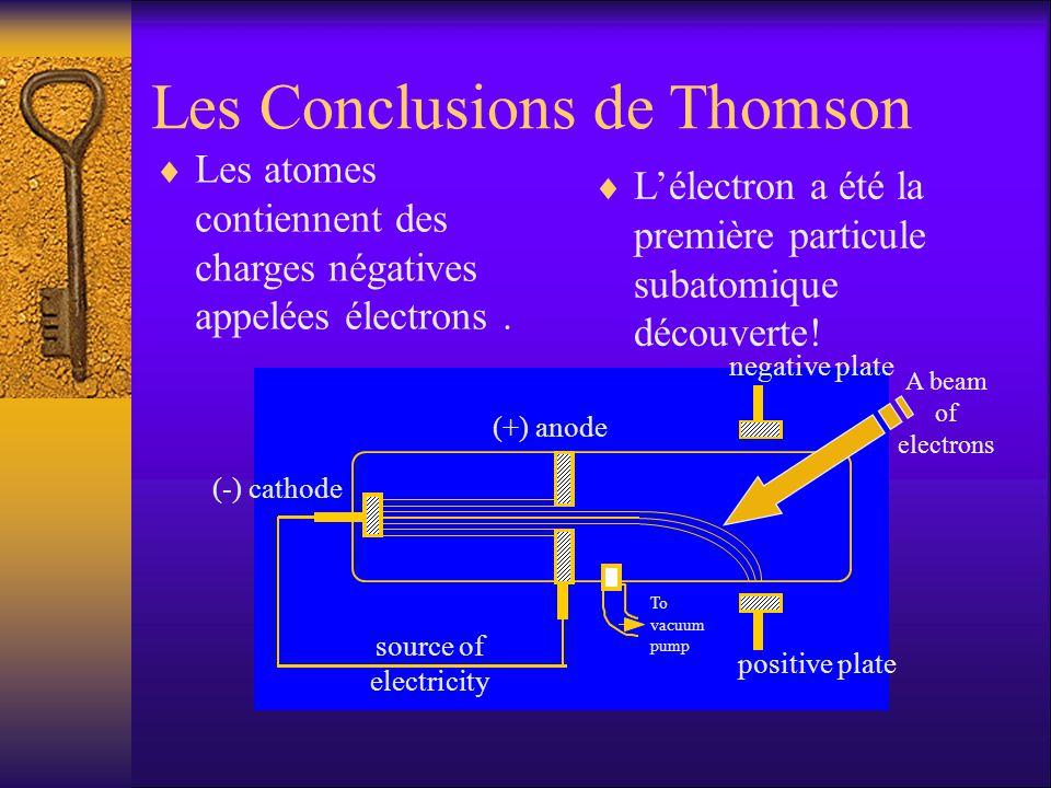 Les Conclusions de Thomson