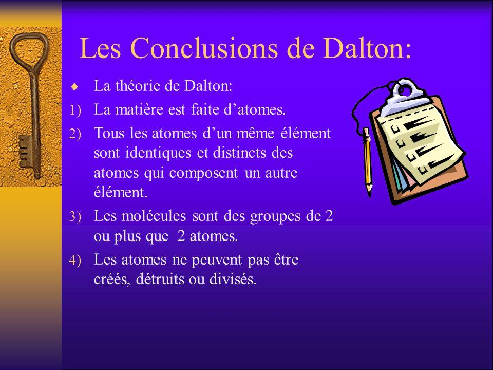 Les Conclusions de Dalton: