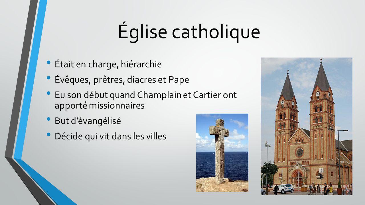 Église catholique Était en charge, hiérarchie