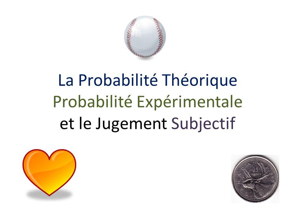 La Probabilité Théorique Probabilité Expérimentale et le Jugement Subjectif