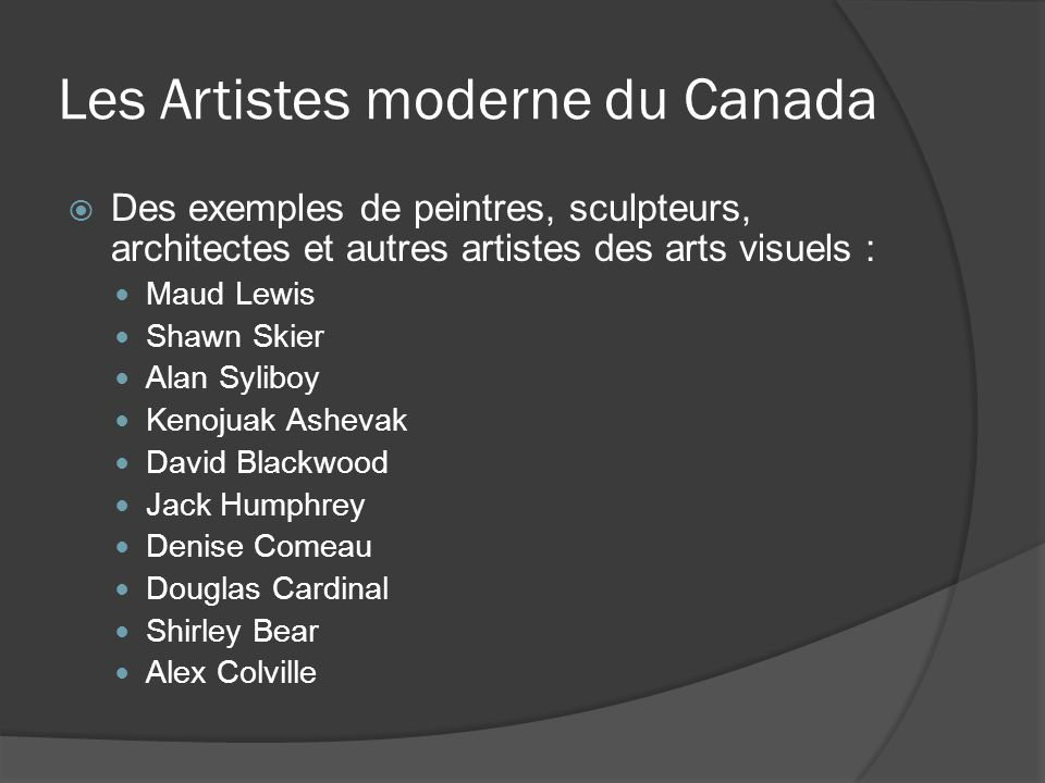 Les Artistes moderne du Canada