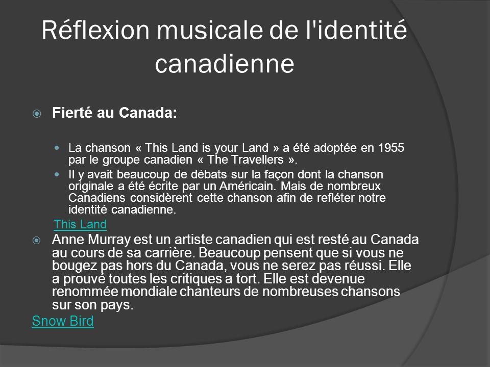 Réflexion musicale de l identité canadienne