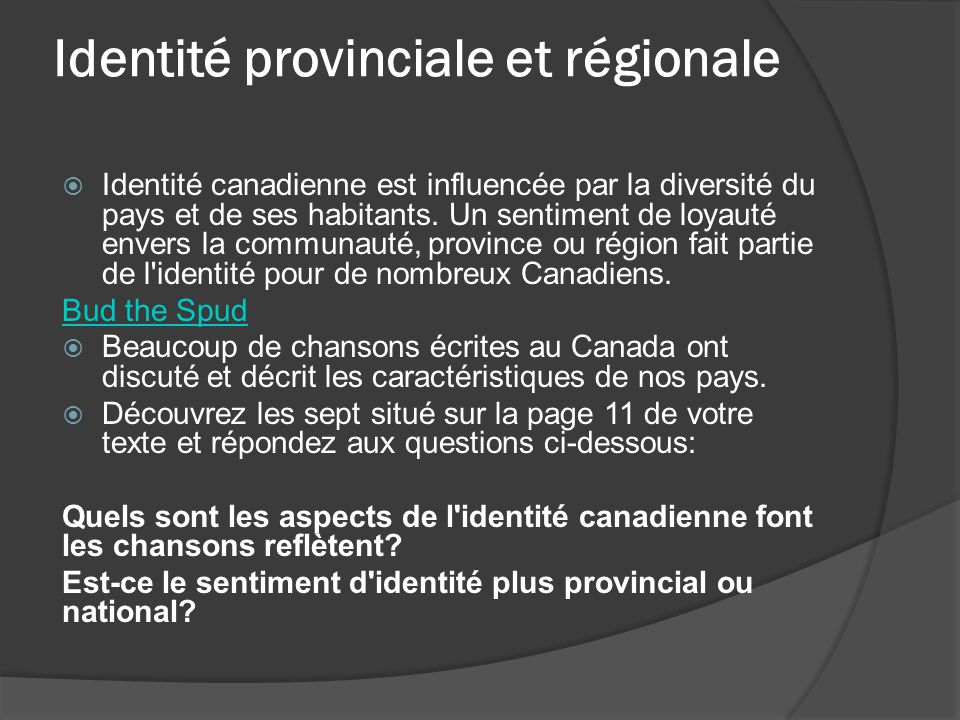 Identité provinciale et régionale