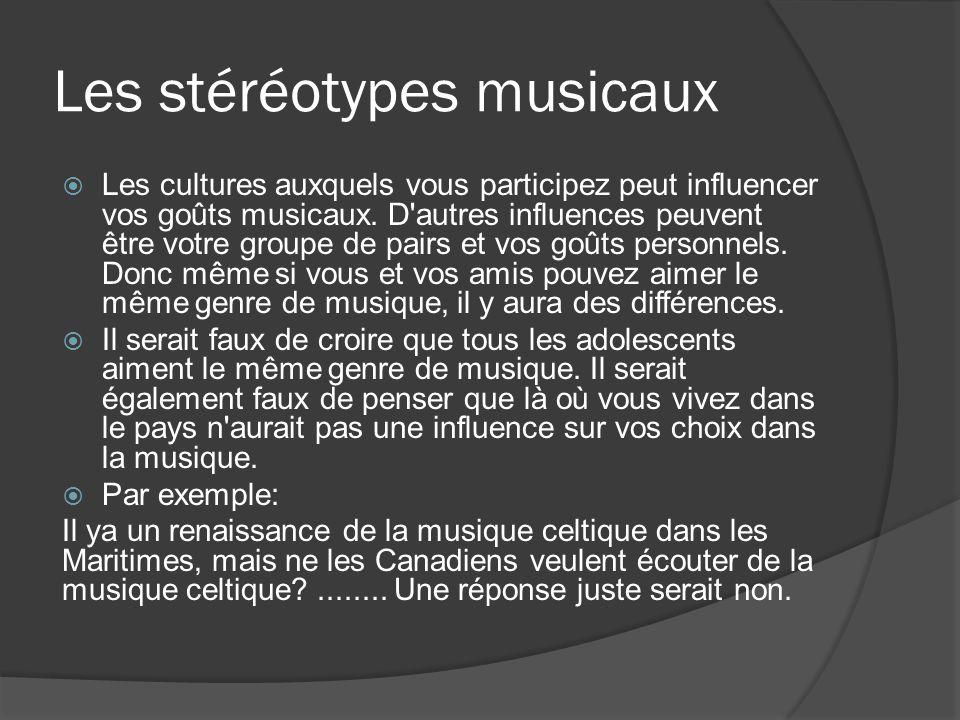 Les stéréotypes musicaux