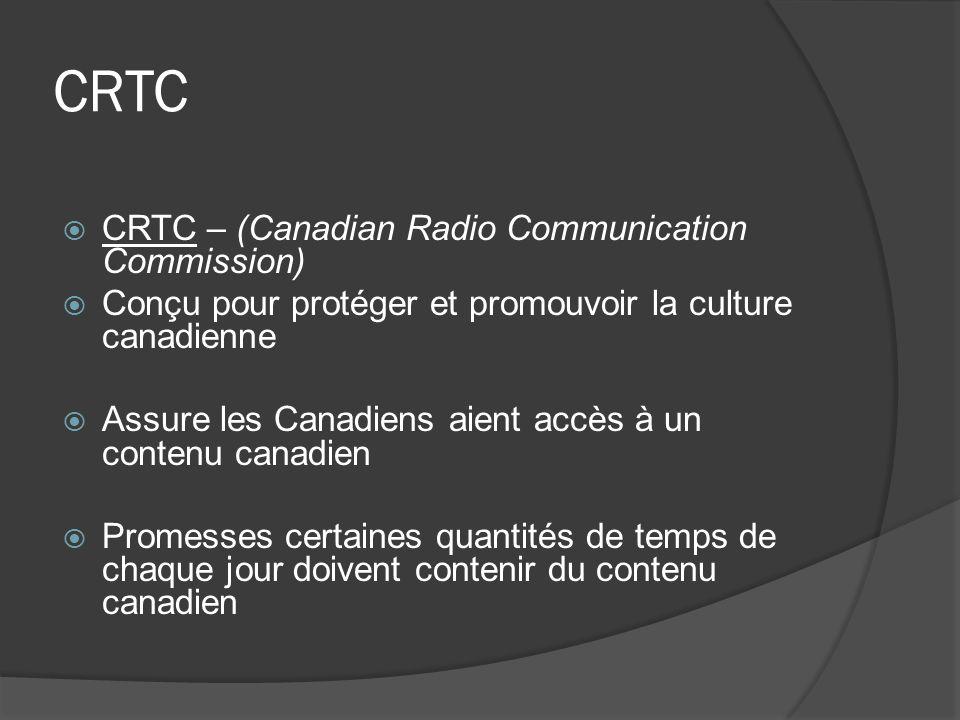 CRTC CRTC – (Canadian Radio Communication Commission)
