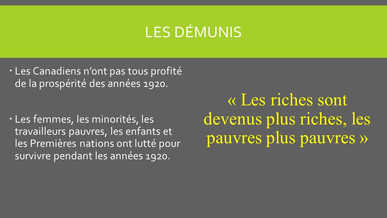 « Les riches sont devenus plus riches, les pauvres plus pauvres »