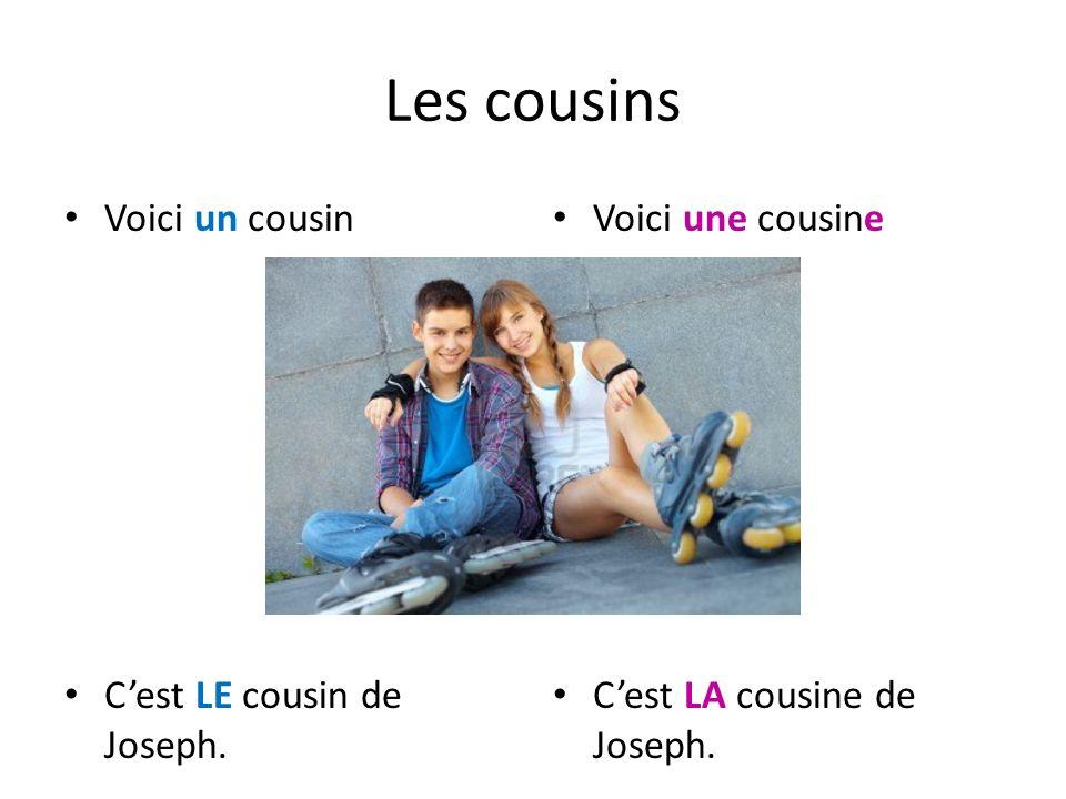 Les cousins Voici un cousin C'est LE cousin de Joseph.