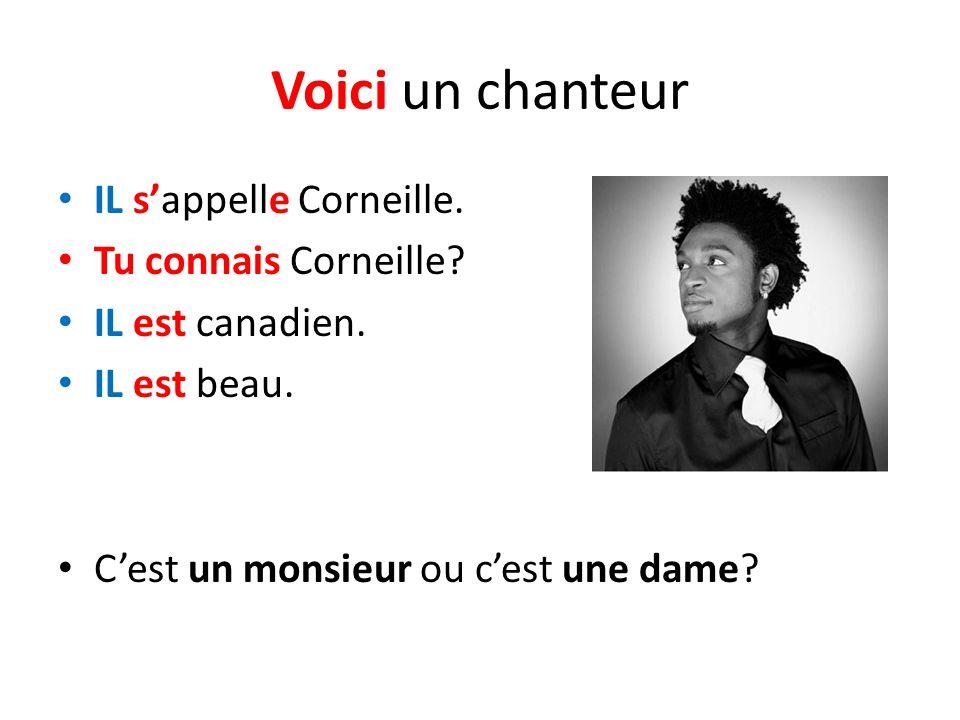 Voici un chanteur IL s'appelle Corneille. Tu connais Corneille