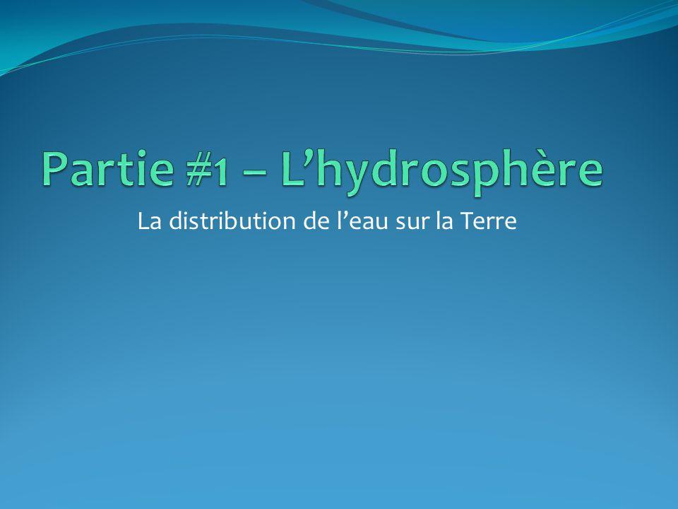 Partie #1 – L'hydrosphère