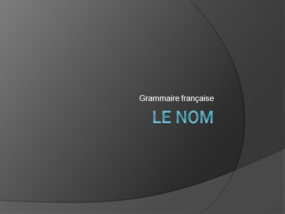 Grammaire française Le Nom