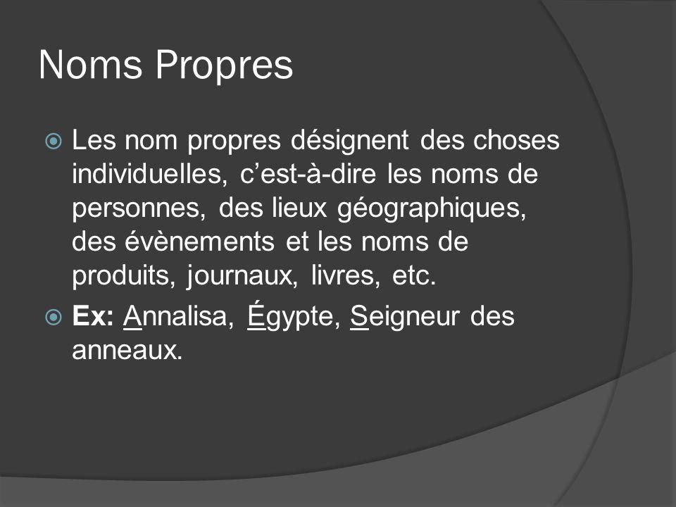Noms Propres