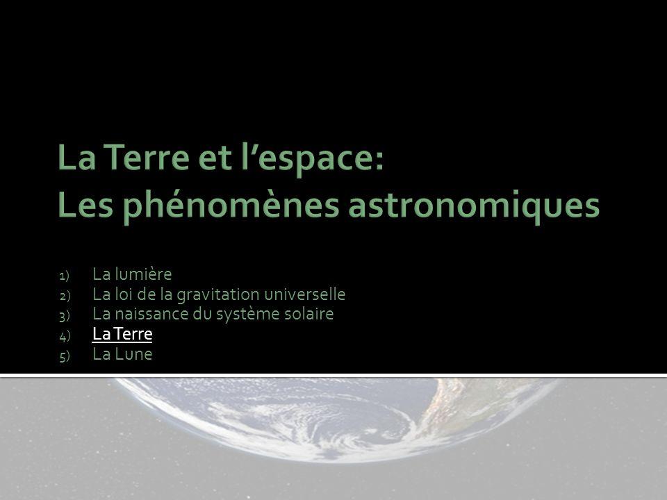 La Terre et l'espace: Les phénomènes astronomiques