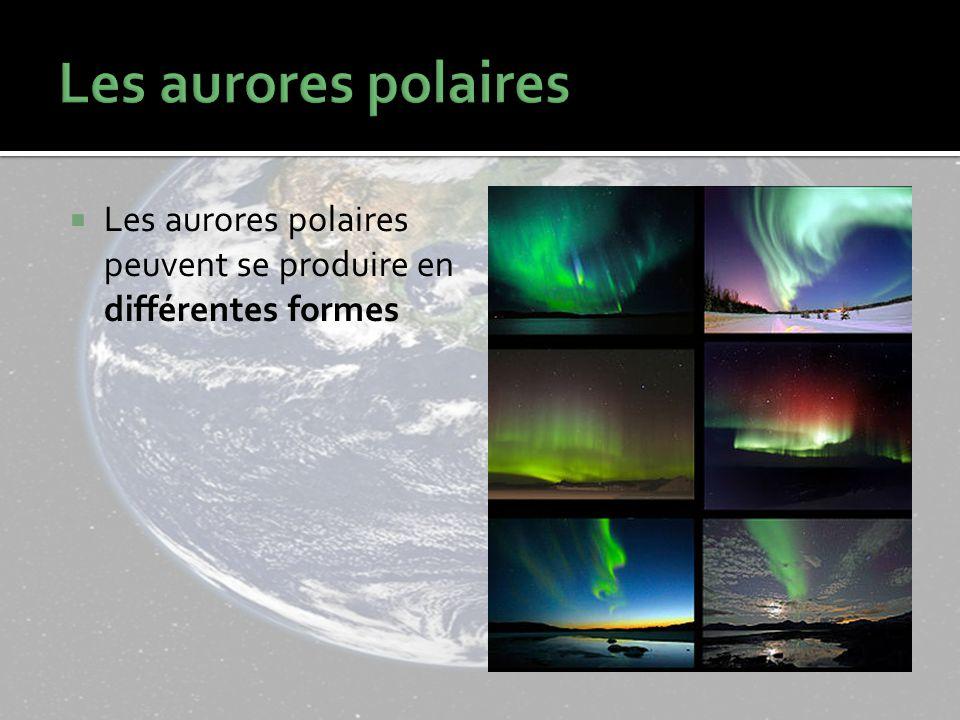 Les aurores polaires Les aurores polaires peuvent se produire en différentes formes