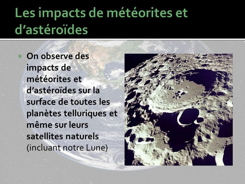 Les impacts de météorites et d'astéroïdes