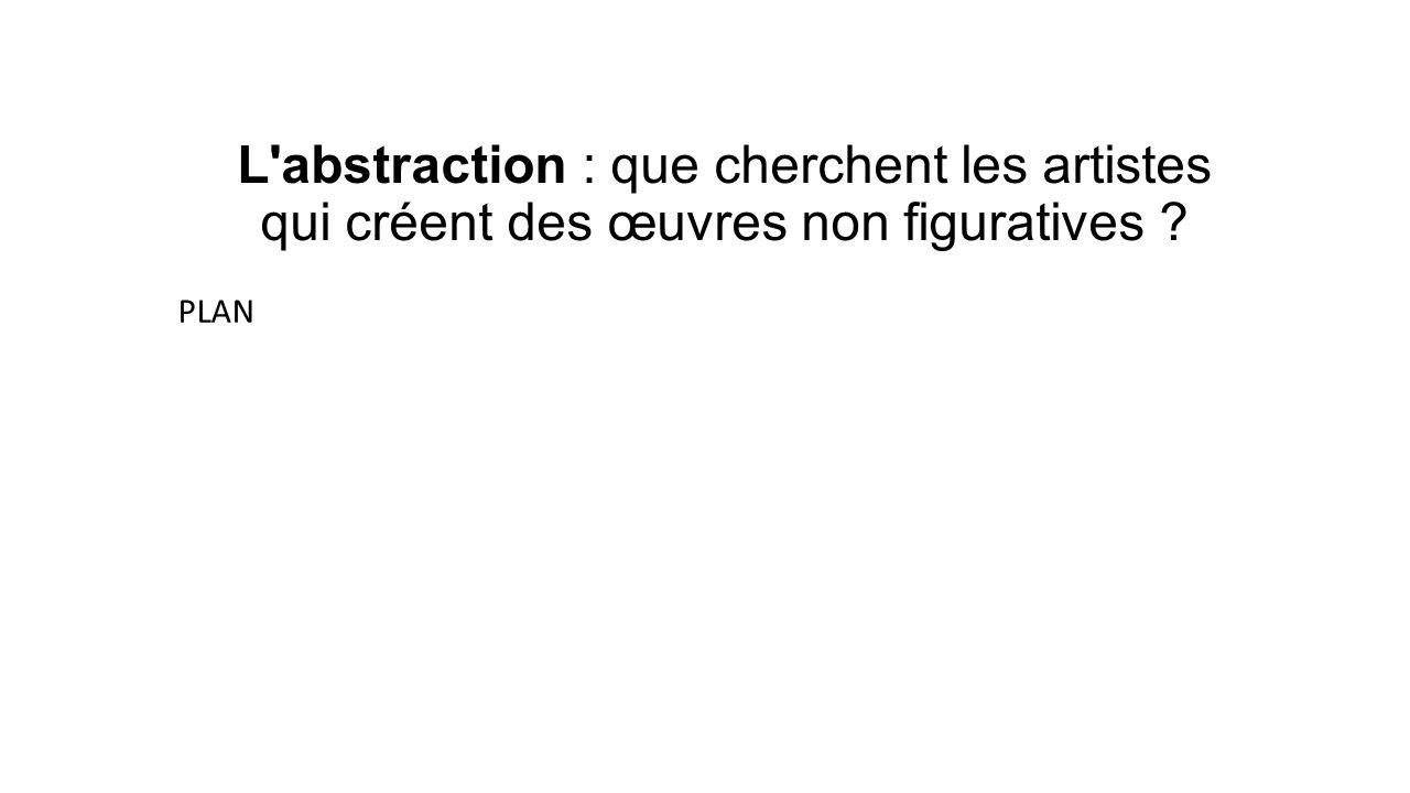 L abstraction : que cherchent les artistes qui créent des œuvres non figuratives