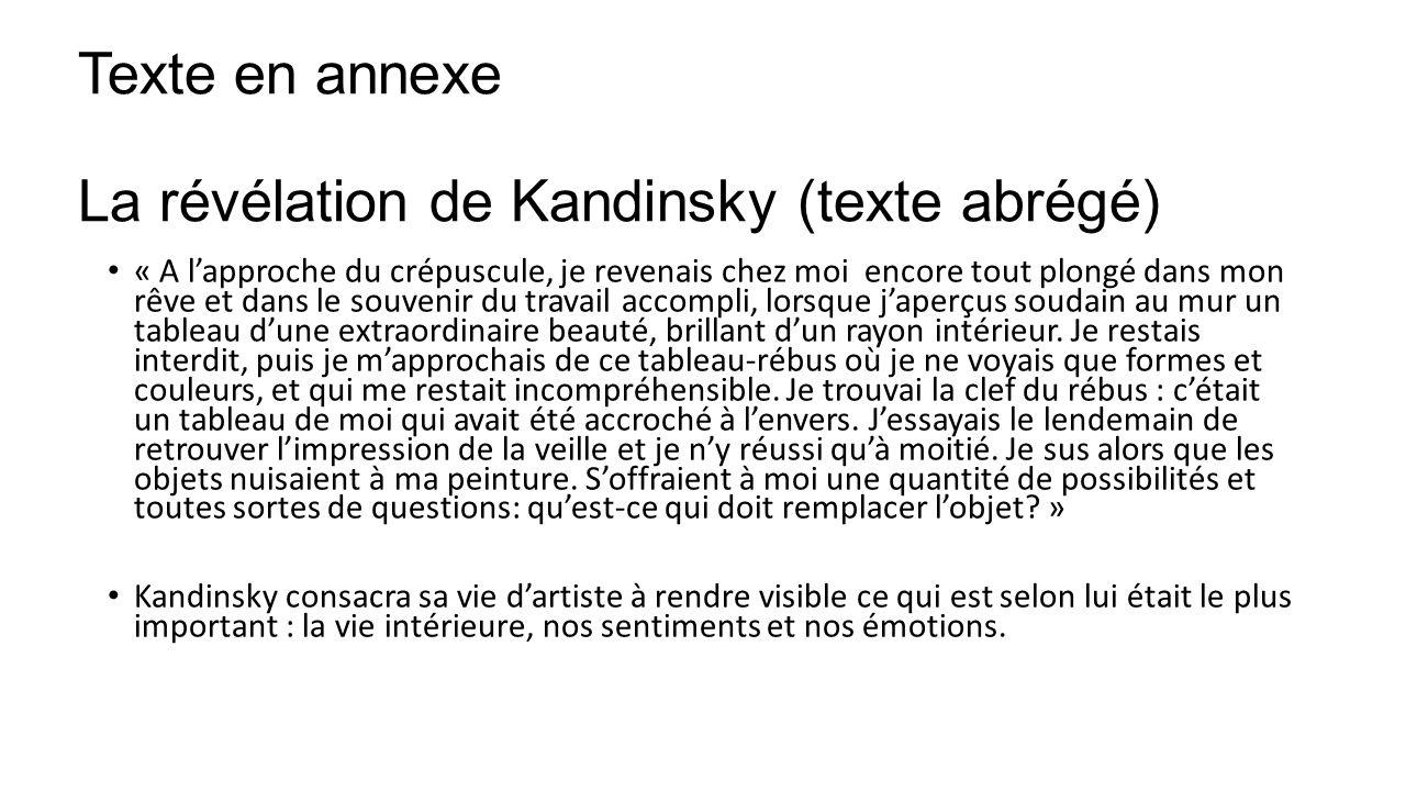Texte en annexe La révélation de Kandinsky (texte abrégé)