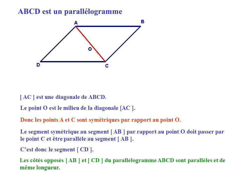 ABCD est un parallélogramme