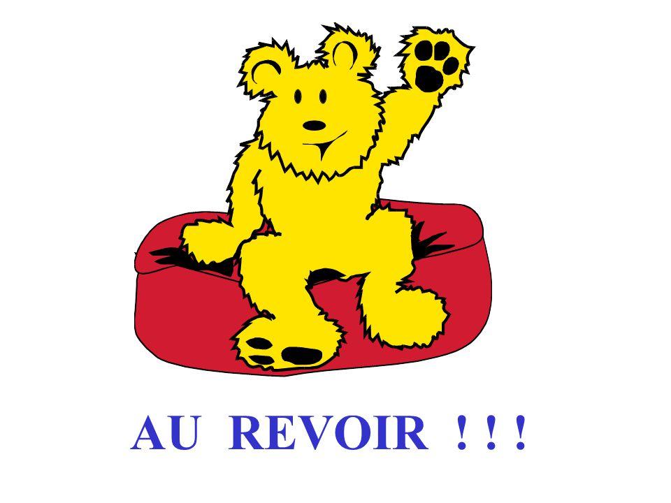 AU REVOIR ! ! !