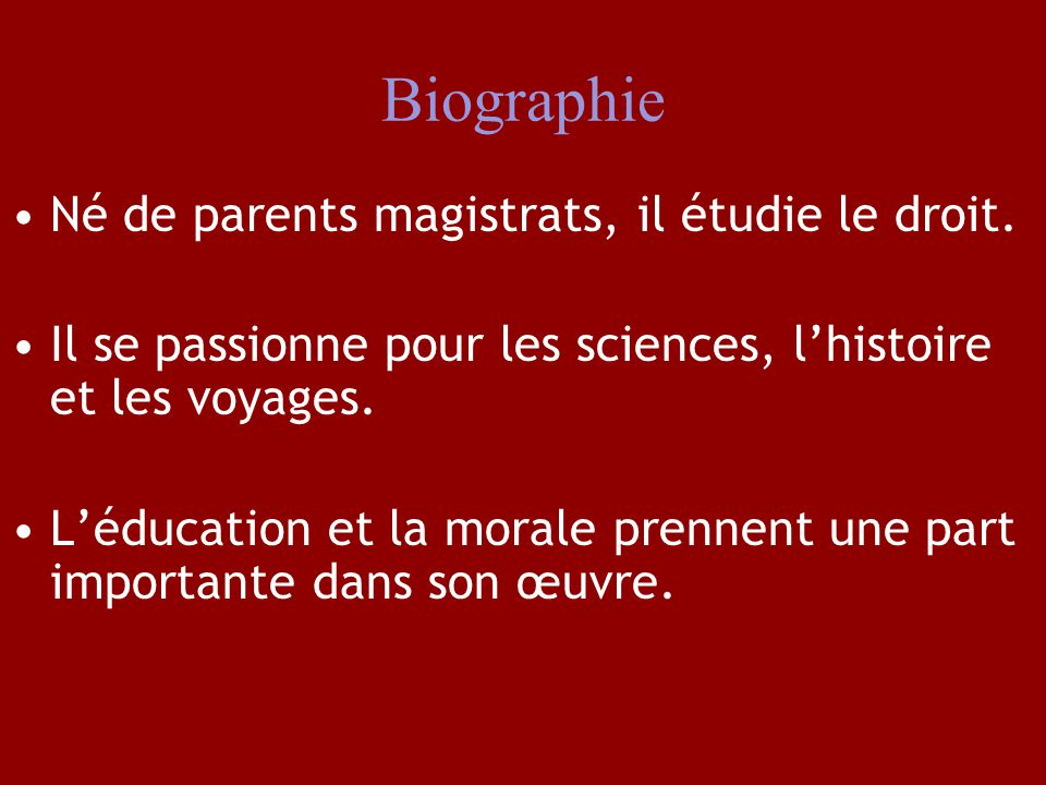 Biographie Né de parents magistrats, il étudie le droit.