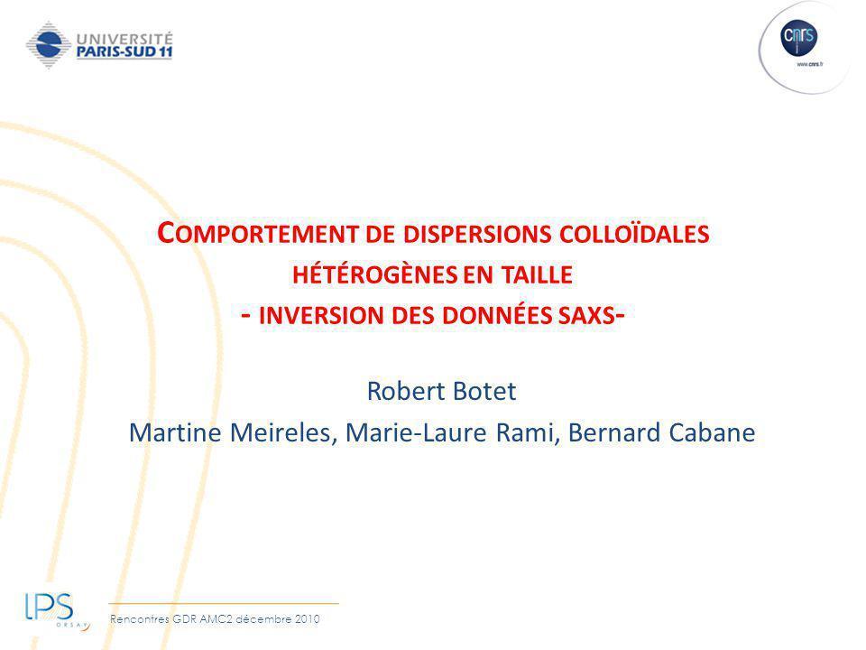 Robert Botet Martine Meireles, Marie-Laure Rami, Bernard Cabane