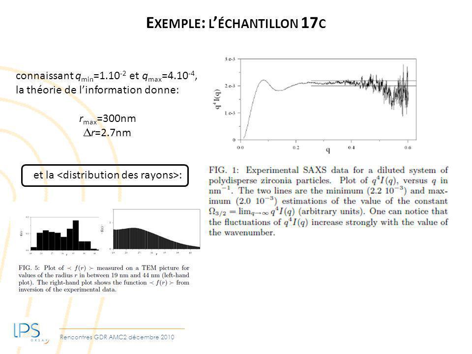Exemple: l'échantillon 17c