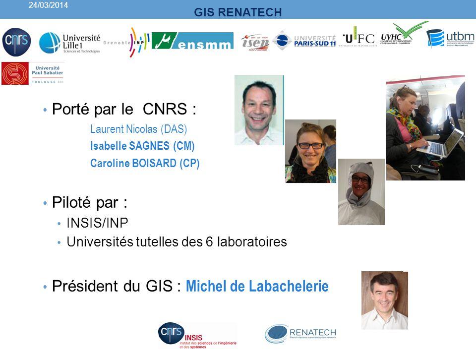 Président du GIS : Michel de Labachelerie