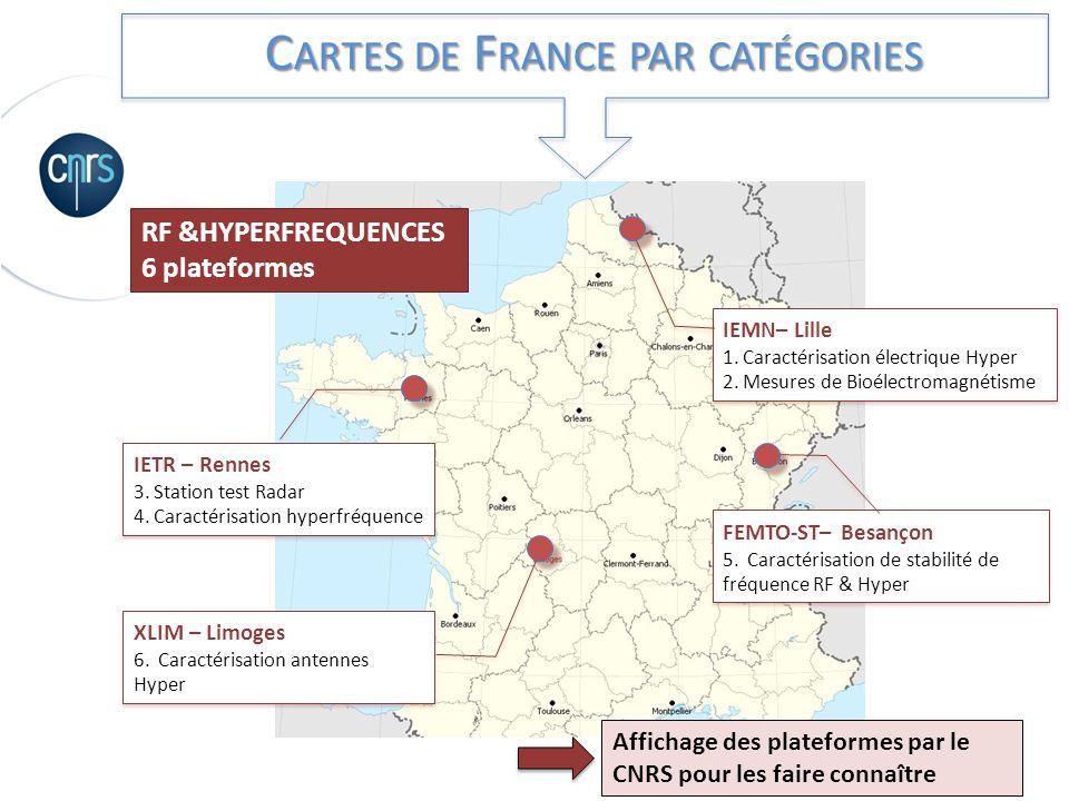 Cartes de France par catégories