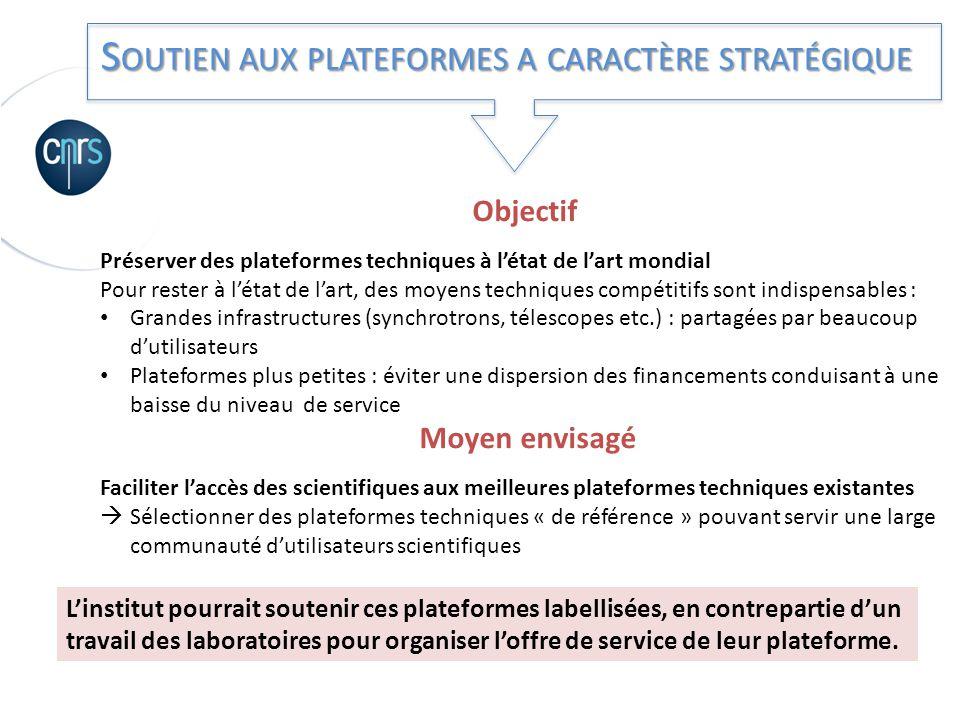Soutien aux plateformes a caractère stratégique