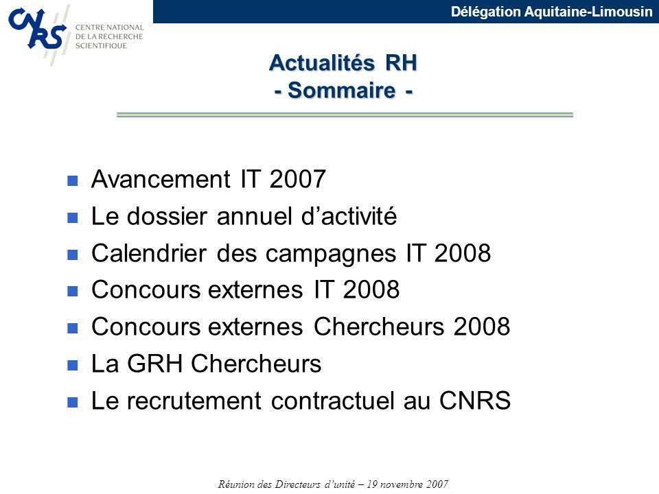 Actualités RH - Sommaire -