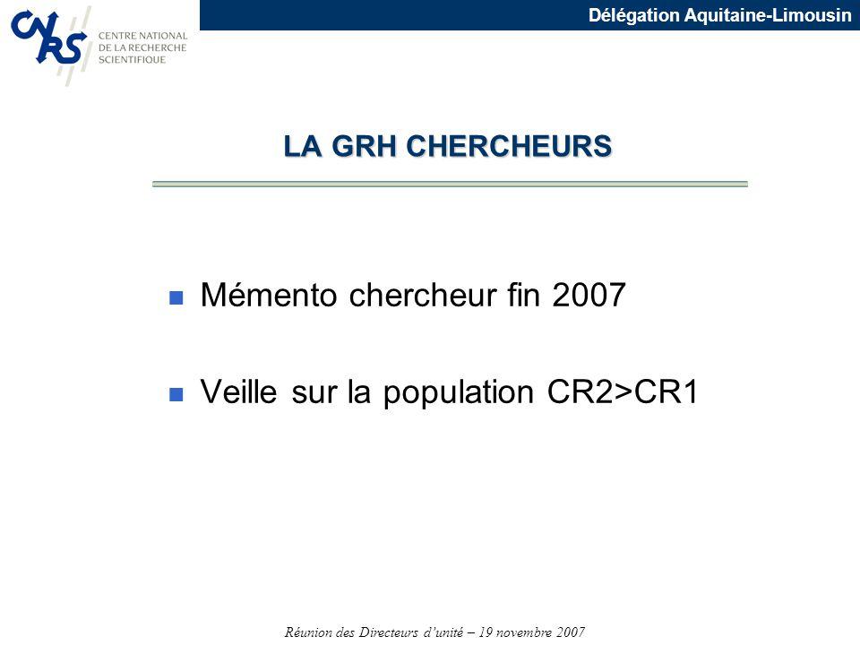 Veille sur la population CR2>CR1