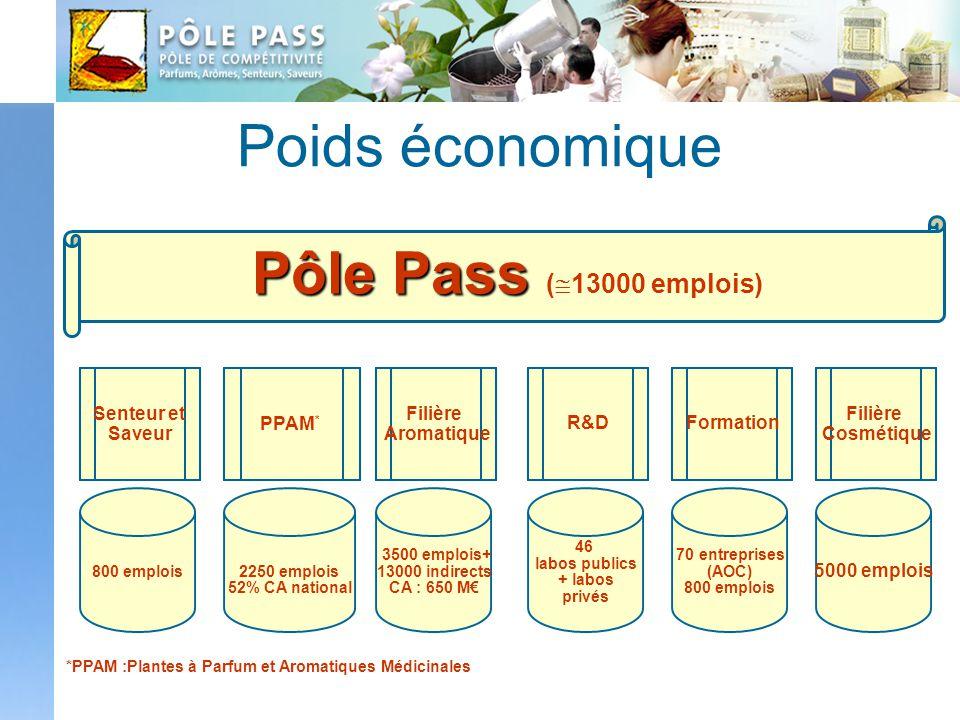 Poids économique Pôle Pass (13000 emplois)