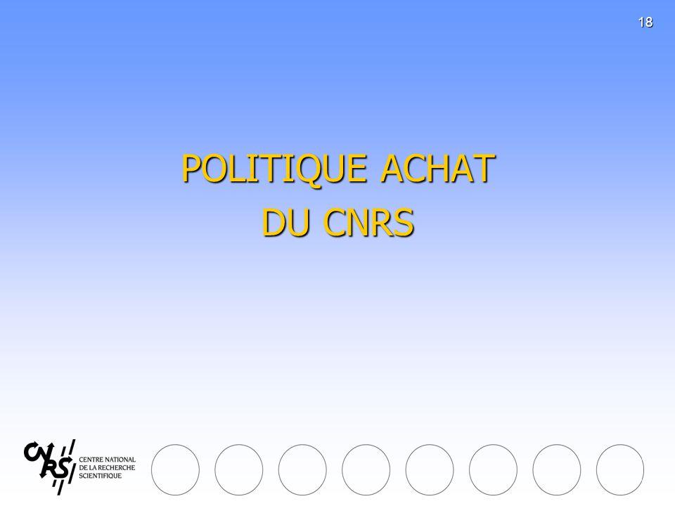 POLITIQUE ACHAT DU CNRS