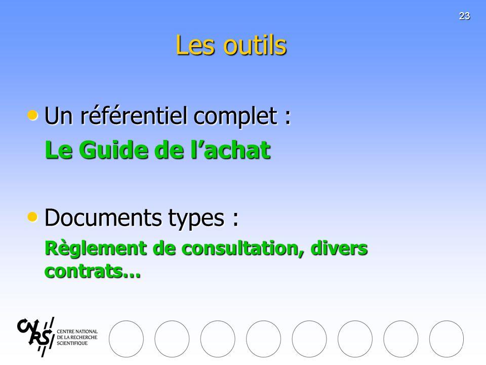 Les outils Un référentiel complet : Le Guide de l'achat