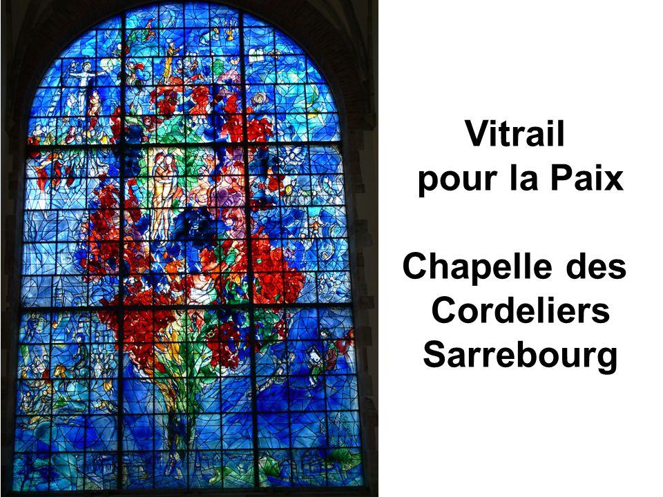 Vitrail pour la Paix Chapelle des Cordeliers Sarrebourg