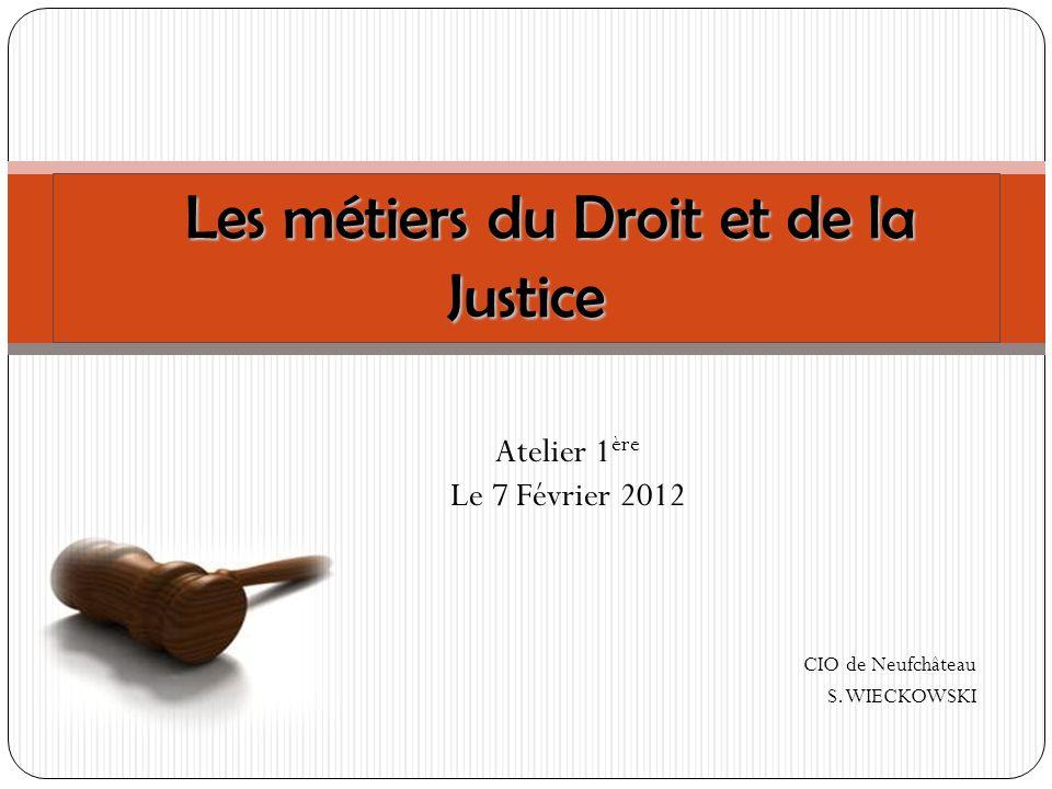Les métiers du Droit et de la Justice