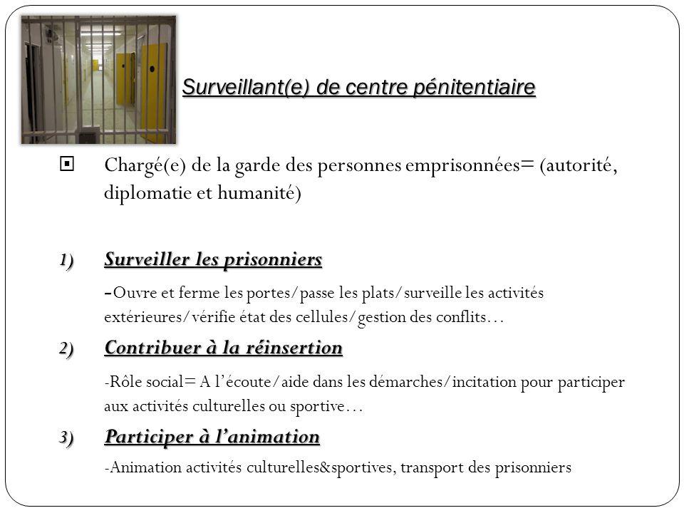 Surveillant(e) de centre pénitentiaire