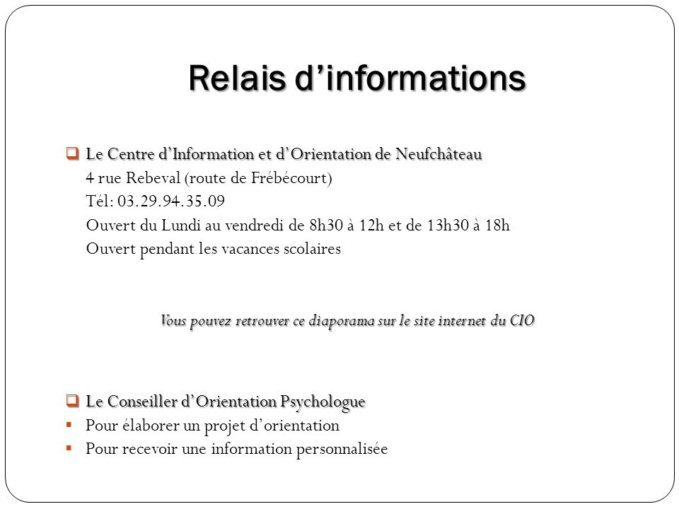 Relais d'informations
