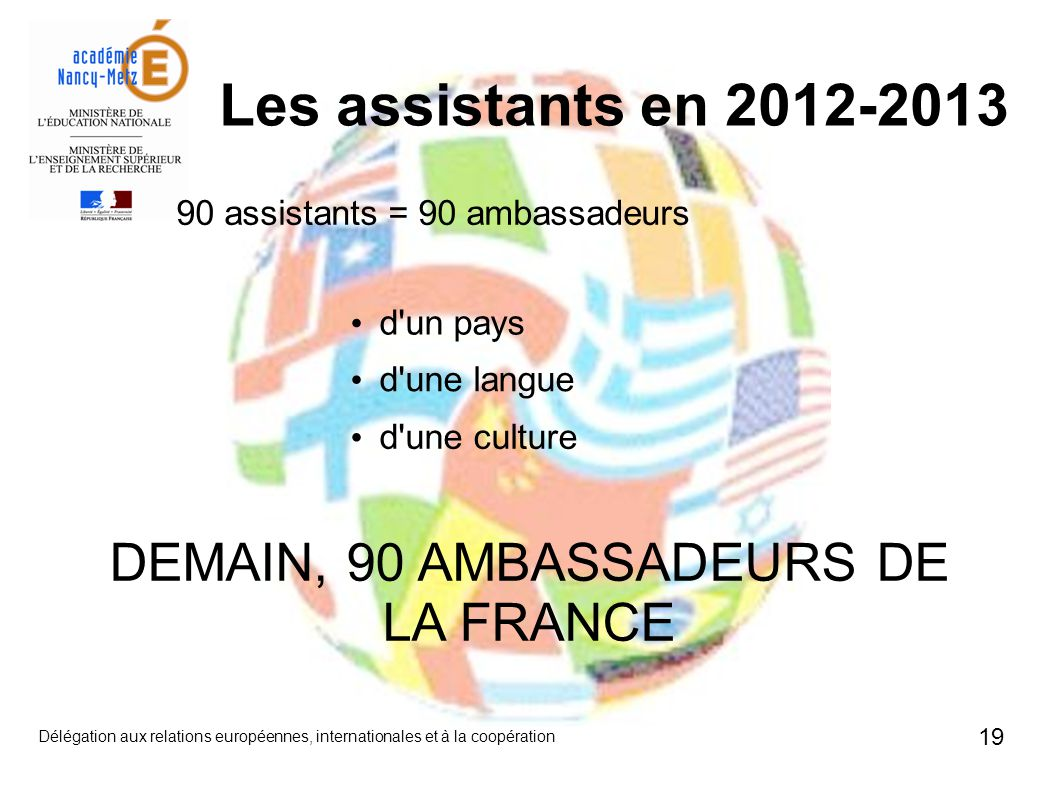 DEMAIN, 90 AMBASSADEURS DE LA FRANCE