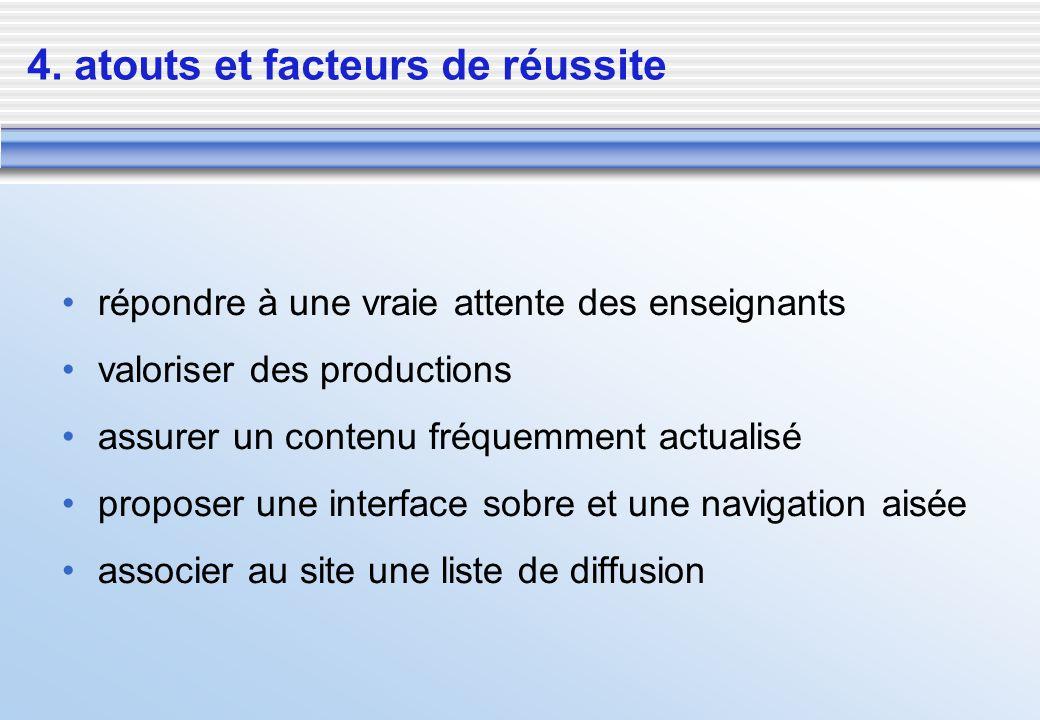 4. atouts et facteurs de réussite