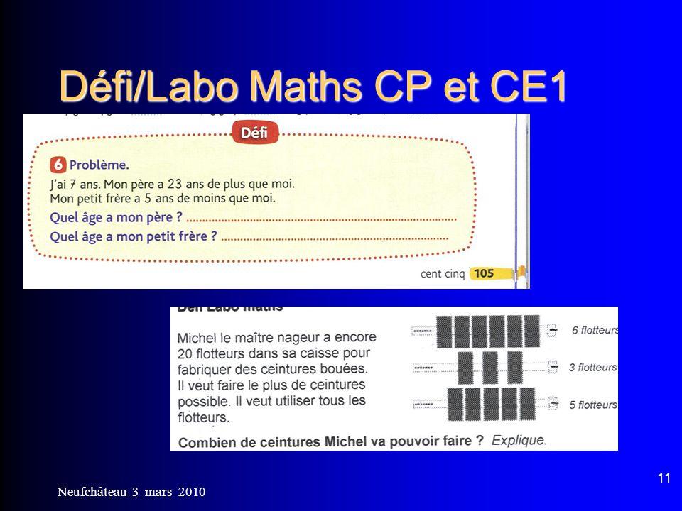 Défi/Labo Maths CP et CE1