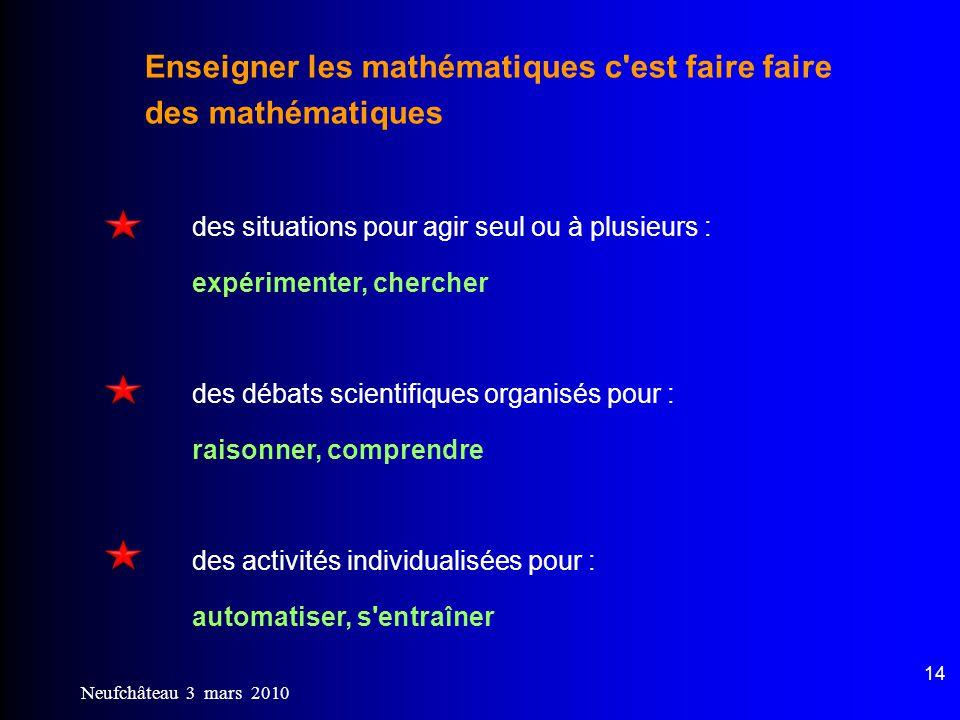 Enseigner les mathématiques c est faire faire des mathématiques