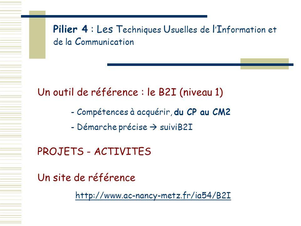 Un outil de référence : le B2I (niveau 1)